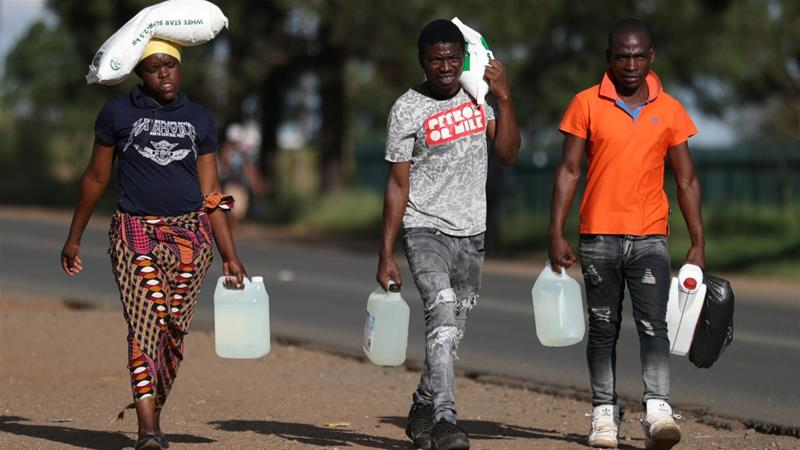 Photo of South Africans banned from walking dogs, buying alcohol during coronavirus lockdown